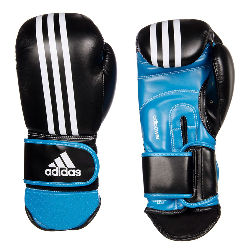 Guante Kickboxing Sparring Negro/Azul