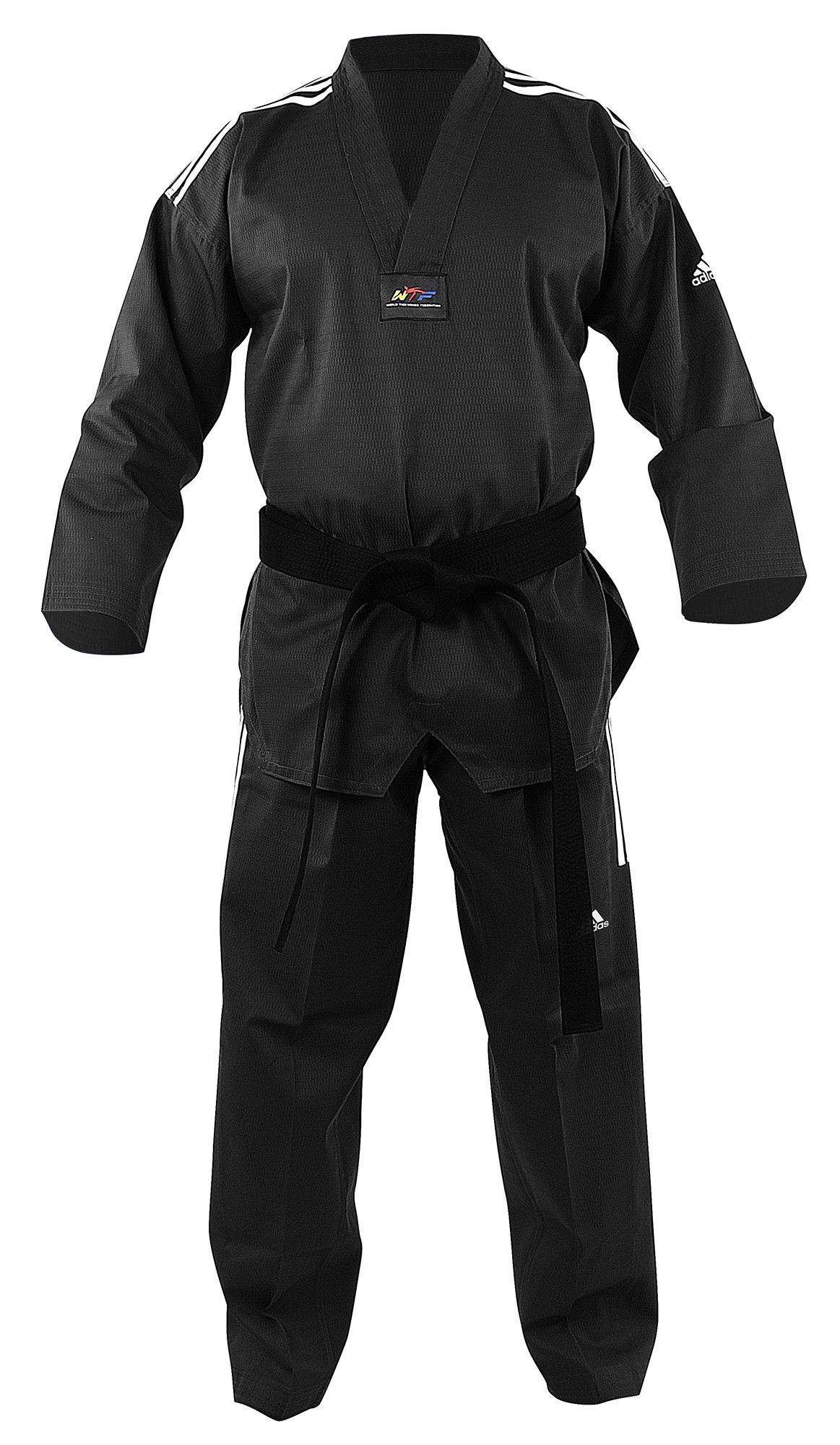 Dobok adi-Champ Color Negro / Oro