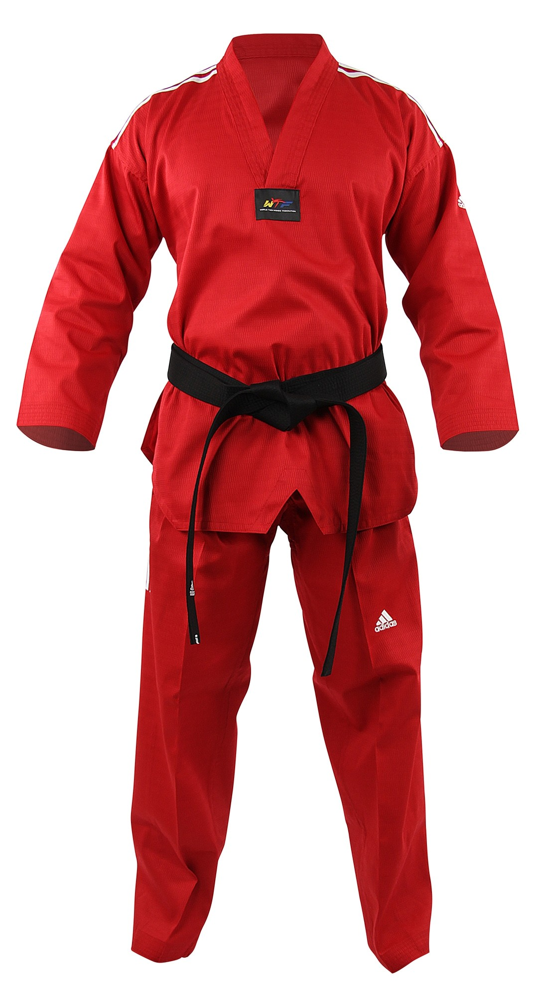 Dobok adi-Champ Color Rojo / Blanco